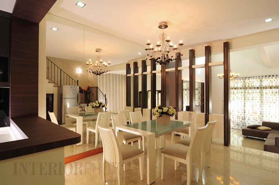Landed house verde ave interiorphoto professional for Interior design for hall and dining room