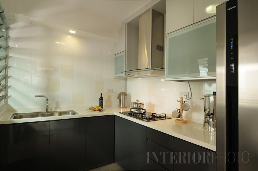 4 room flat punggol dr interiorphoto professional for Small flat kitchen design