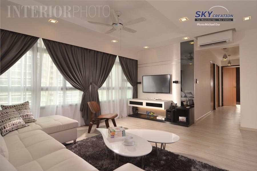 Beautiful hdb flat living room interior design joy for Interior design for 5 room hdb flat