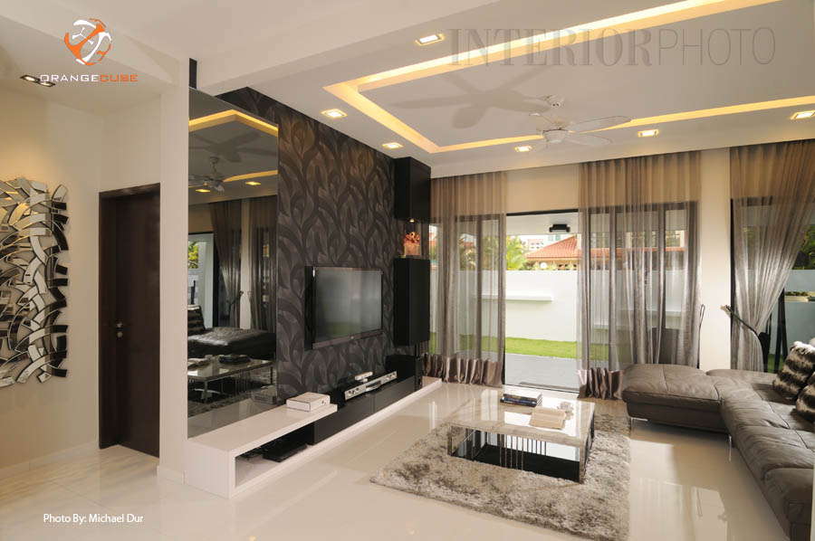Macpherson landed house interiorphoto professional for Feature wall interior design