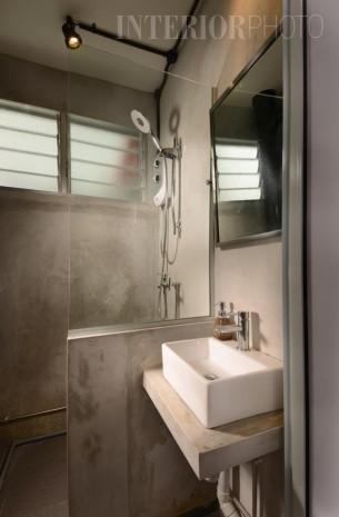 ... HDB 3 Room Flat Industrial Look Bathroom 305x465 ... Part 53