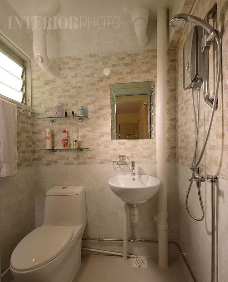 Bedok 3 room flat interiorphoto professional Toilet room design ideas