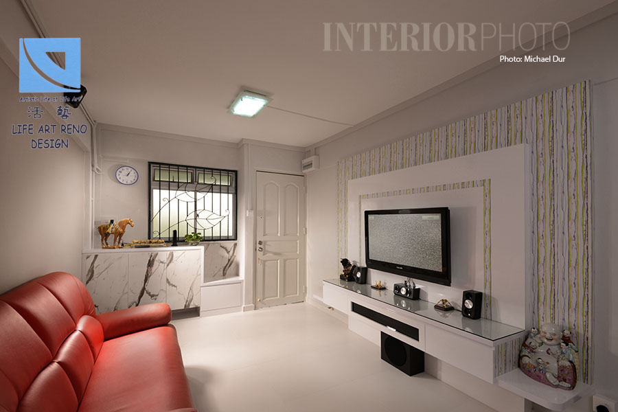 Beautiful hdb 3 room interior design ideas pictures for Interior designs for flats