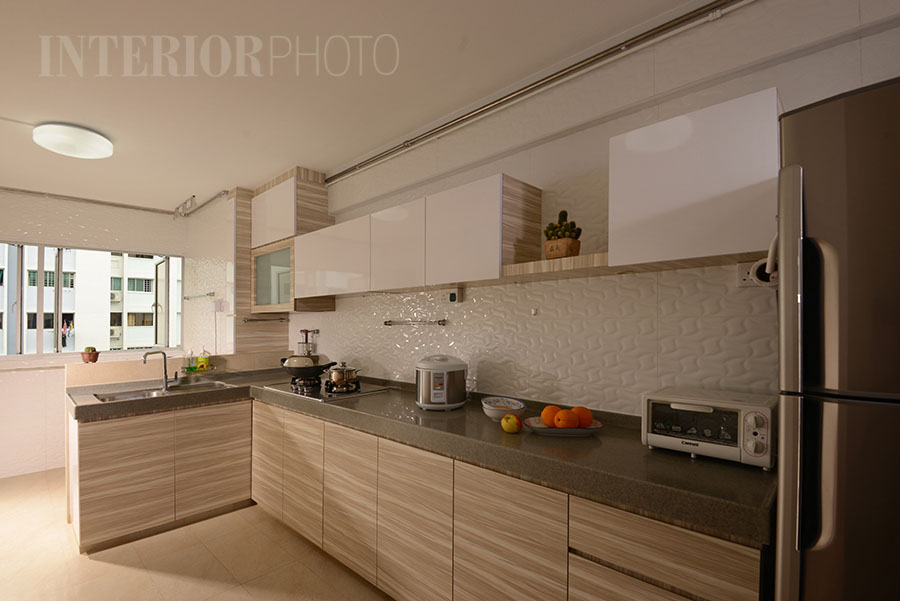 Bedok 3 room flat interiorphoto professional photography for interior designs Kitchen design in hdb