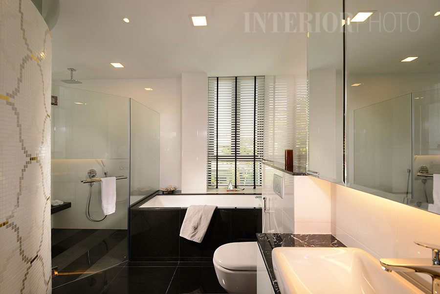 Sunset close landed house interiorphoto professional for Bisazza bathroom ideas