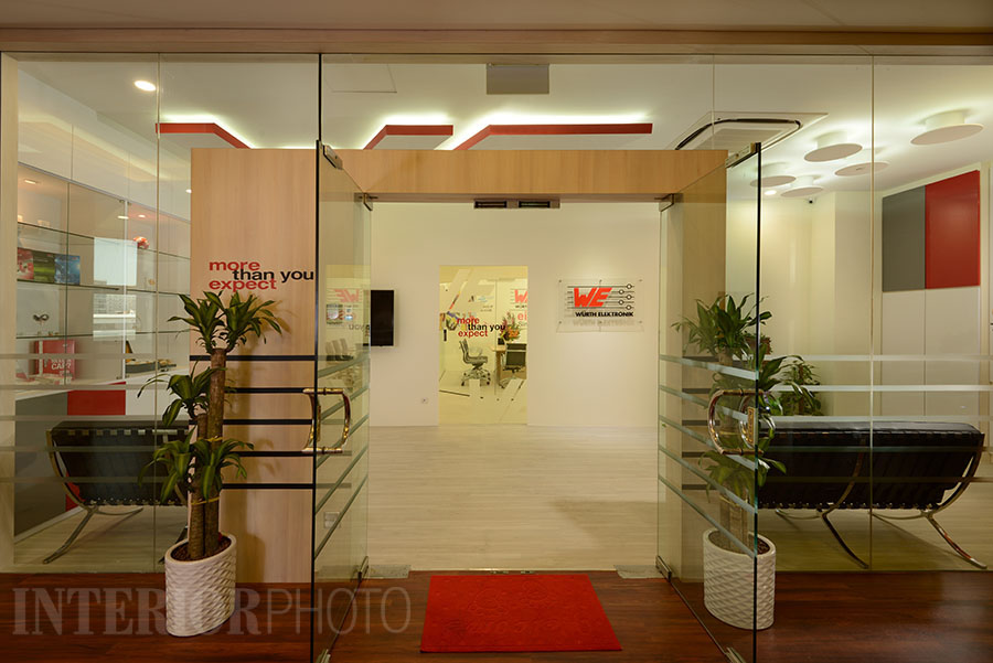 Wurth electronics office interior interiorphoto for Office entrance design